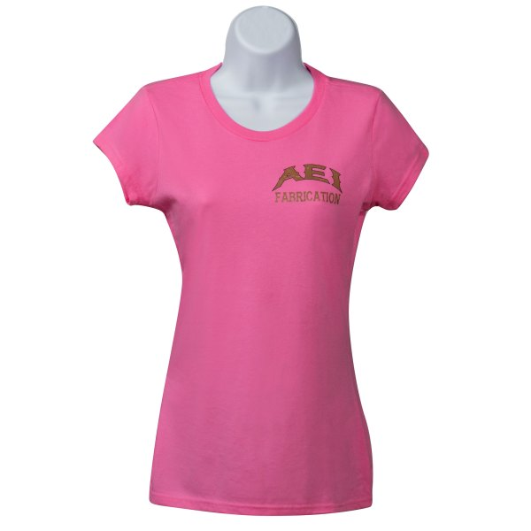 AEI Fabrication Shiner Womens T-Shirt Pink