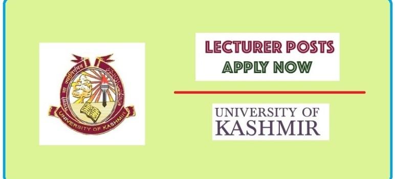 Kashmir University Lecturer Recruitment 2021: Apply Now