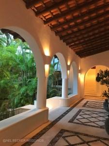 Hotel Esencia main house. Riviera Maya, Mexico