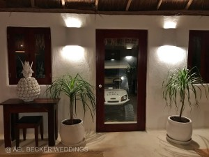 Hotel Esencia main entrance. Tulum, Mexico