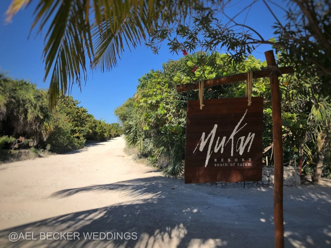 Welcome to Mukan Luxury Resort, South of Tulum. Ael Becker Weddings