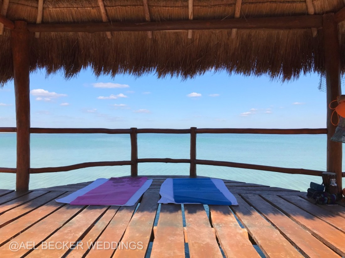 Private Yoga & Meditation Classes at Mukan Resort, Tulum, Mexico. Ael Becker Weddings