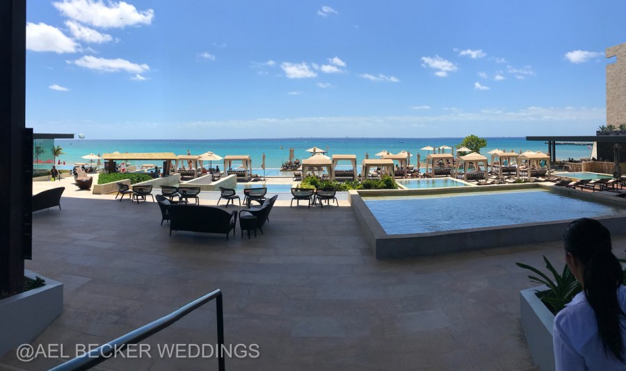 Grand Hyatt Playa del Carmen pool area. Ael Becker Weddings