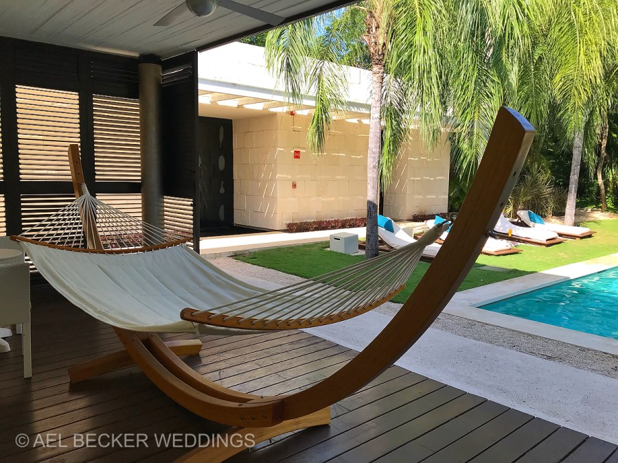 SPA Pool Area. Blue Diamond Luxury Boutique Hotel, Riviera Maya, Mexico. Ael Becker Weddings