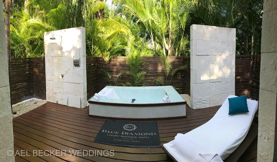 SPA area. Blue Diamond Luxury Boutique Hotel, Riviera Maya, Mexico. Ael Becker Weddings