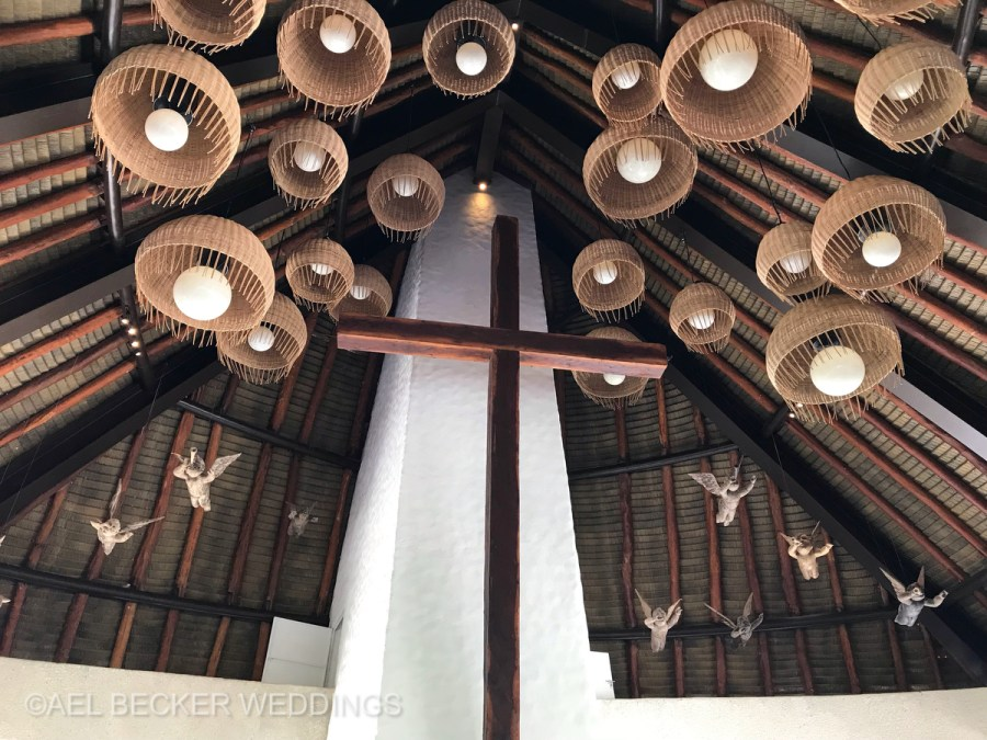 Hotel Xcaret Mexico, All Saints Chapel Interiors. Ael Becker Weddings