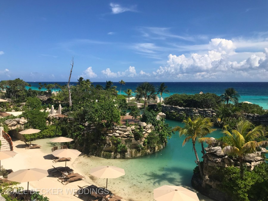 Hotel Xcaret Mexico, inlets and beach area. Ael Becker Weddings