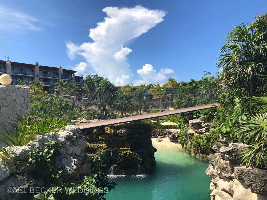 Hotel Xcaret Mexico, scenery and bridges. Ael Becker Weddings