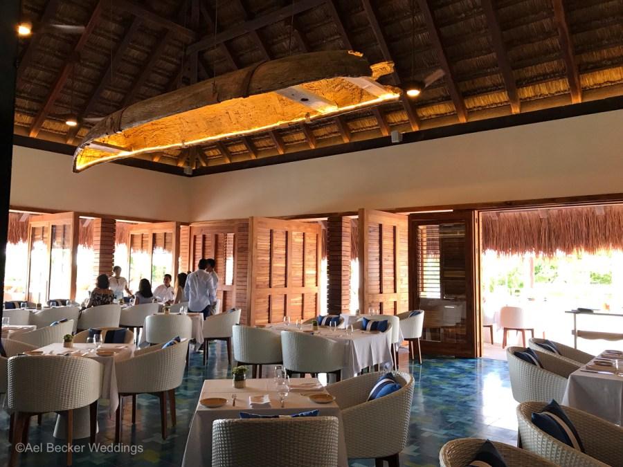Main restaurant at the new Chable Maroma, Riviera Maya, Mexico. Ael Becker Weddings