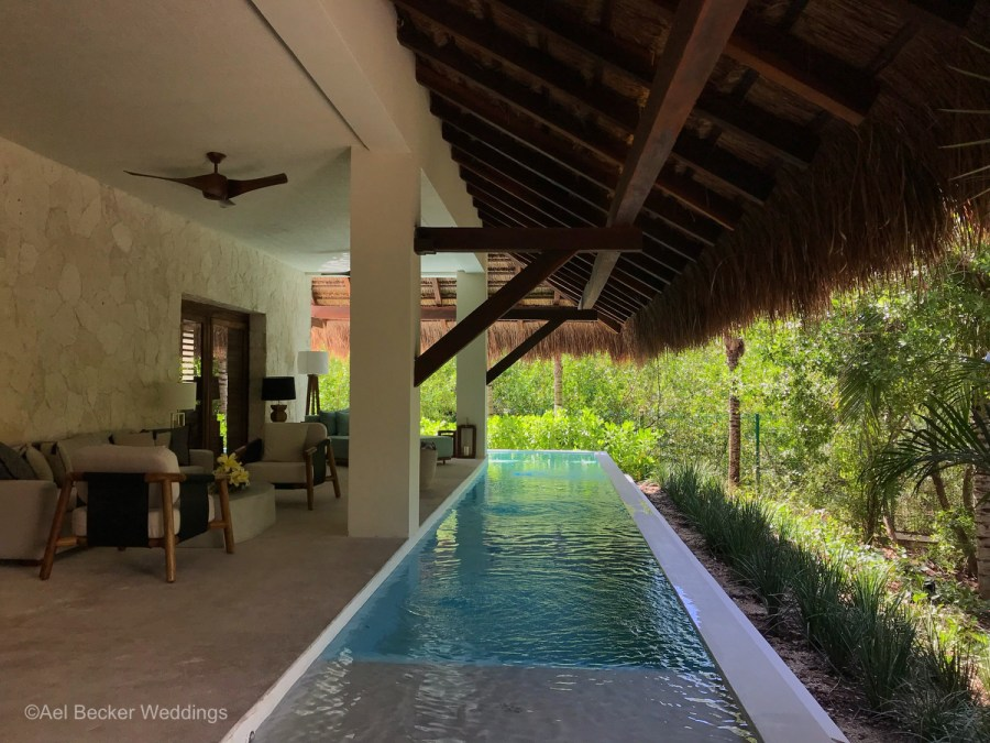 Presidential suite with private pool at Chable Maroma, Mexico. Ael Becker Weddings