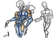 Cyborg Ninja Doodle