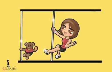 Manga pole dancer