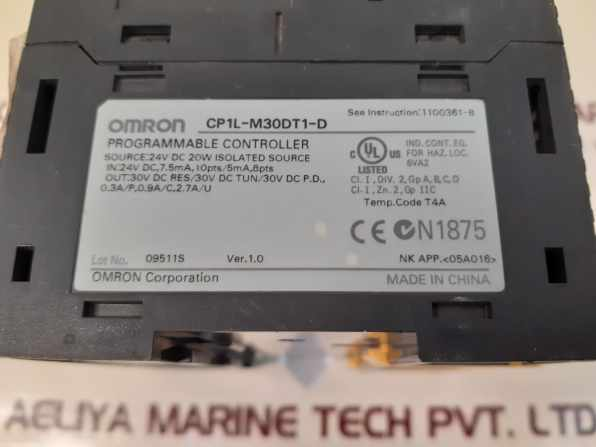OMRON SYSMAC CP1L-M30DT1-D PROGRAMMABLE CONTROLLER