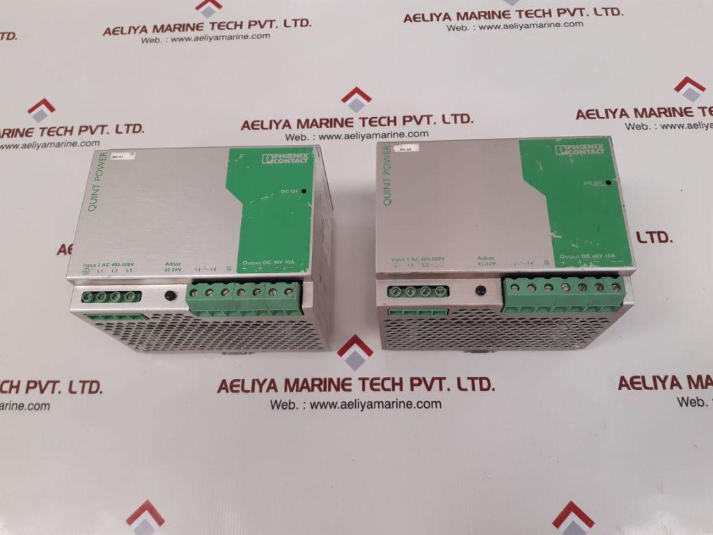 PHOENIX CONTACT QUINT POWER SUPPLY QUINT-PS-3×400-500AC/48DC/10