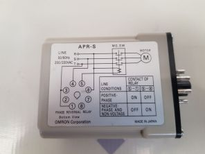OMRON APR-S PHASE REVERSAL RELAY