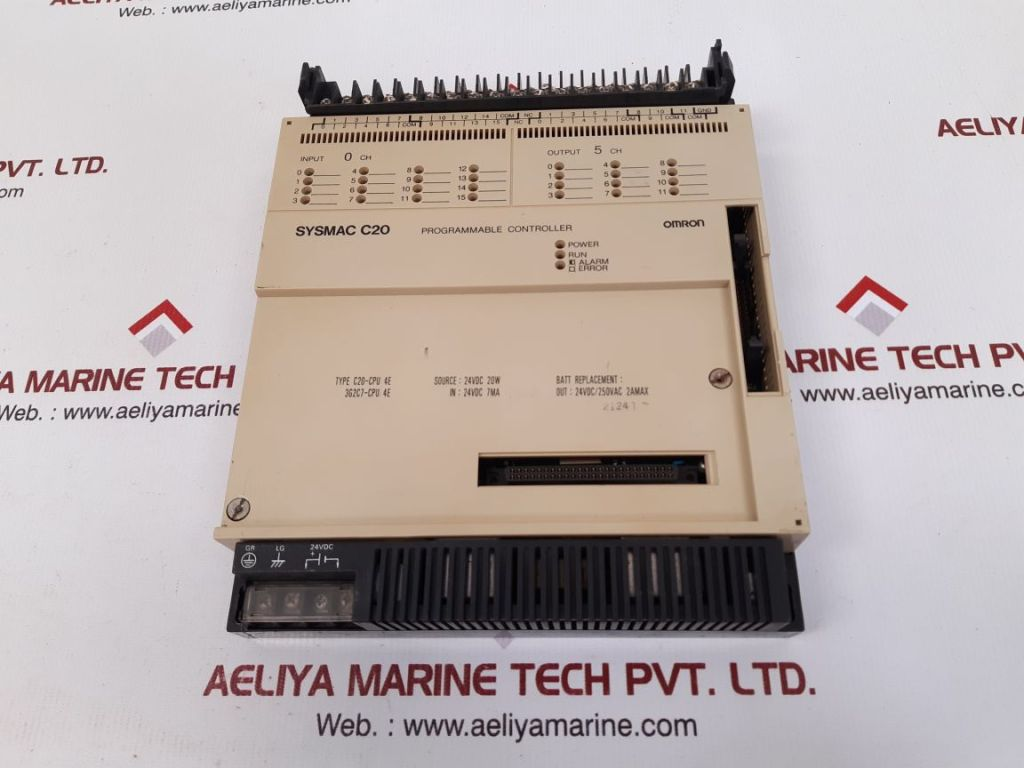 OMRON TATEISI C20-CPU 4E PROGRAMMABLE CONTROLLER