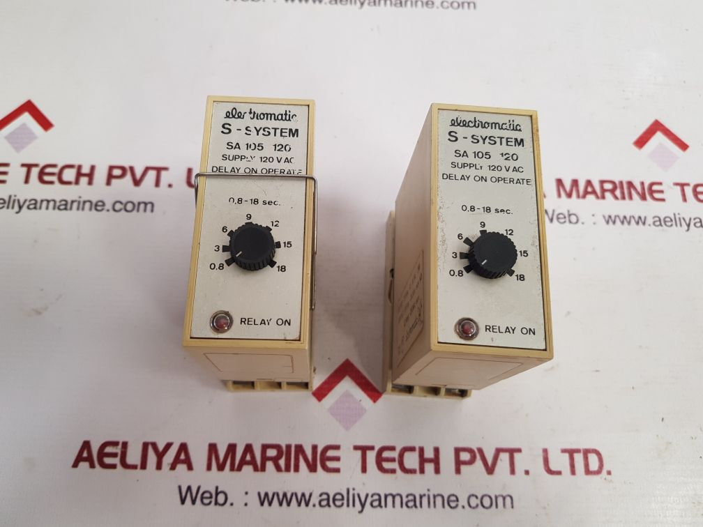 ELECTROMATIC S-SYSTEM SA 105 120 TIME DELAY RELAY 0.8-18 SEC