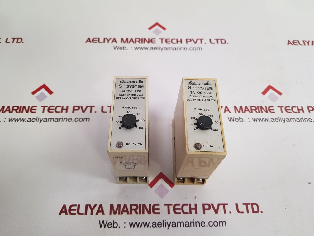ELECTROMATIC S-SYSTEM SA 105 220 TIME DELAY RELAY 220 VAC
