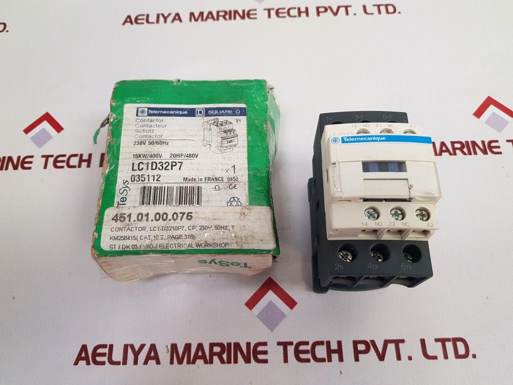 TELEMECANIQUE SCHNEIDER ELECTRIC SQUARE D LC1D32P7 CONTACTOR