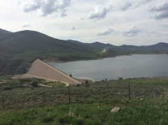 Jordanelle Dam, the dam we were investigating the effects of.