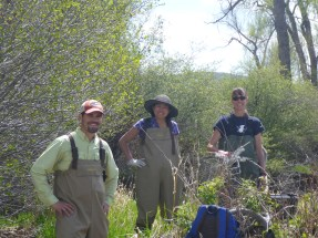 Jeremy, Cindy, and Suzanne on the last day of field work.