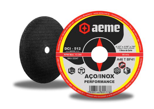 Disco de Corte para Inox Aeme DCI Aeme DCI 512