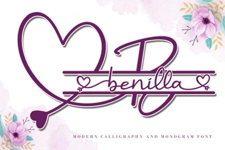 Benilla - Monogram with Script Font