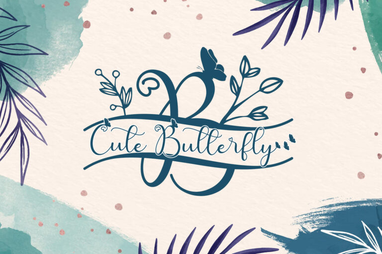 Preview image of Cute Butterfly Monogram