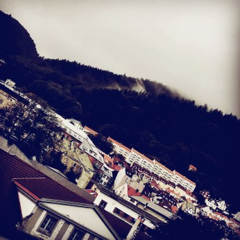 Rainy Bergen day. But OMG, look at the mountains!