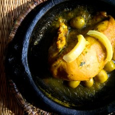 Chicken tangine with olives