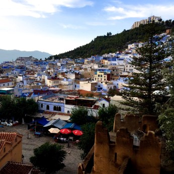 Overlooking view of Chefchaouen