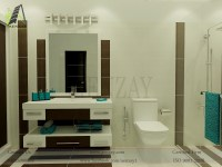washroom interior design | Aenzay Interiors & Architecture