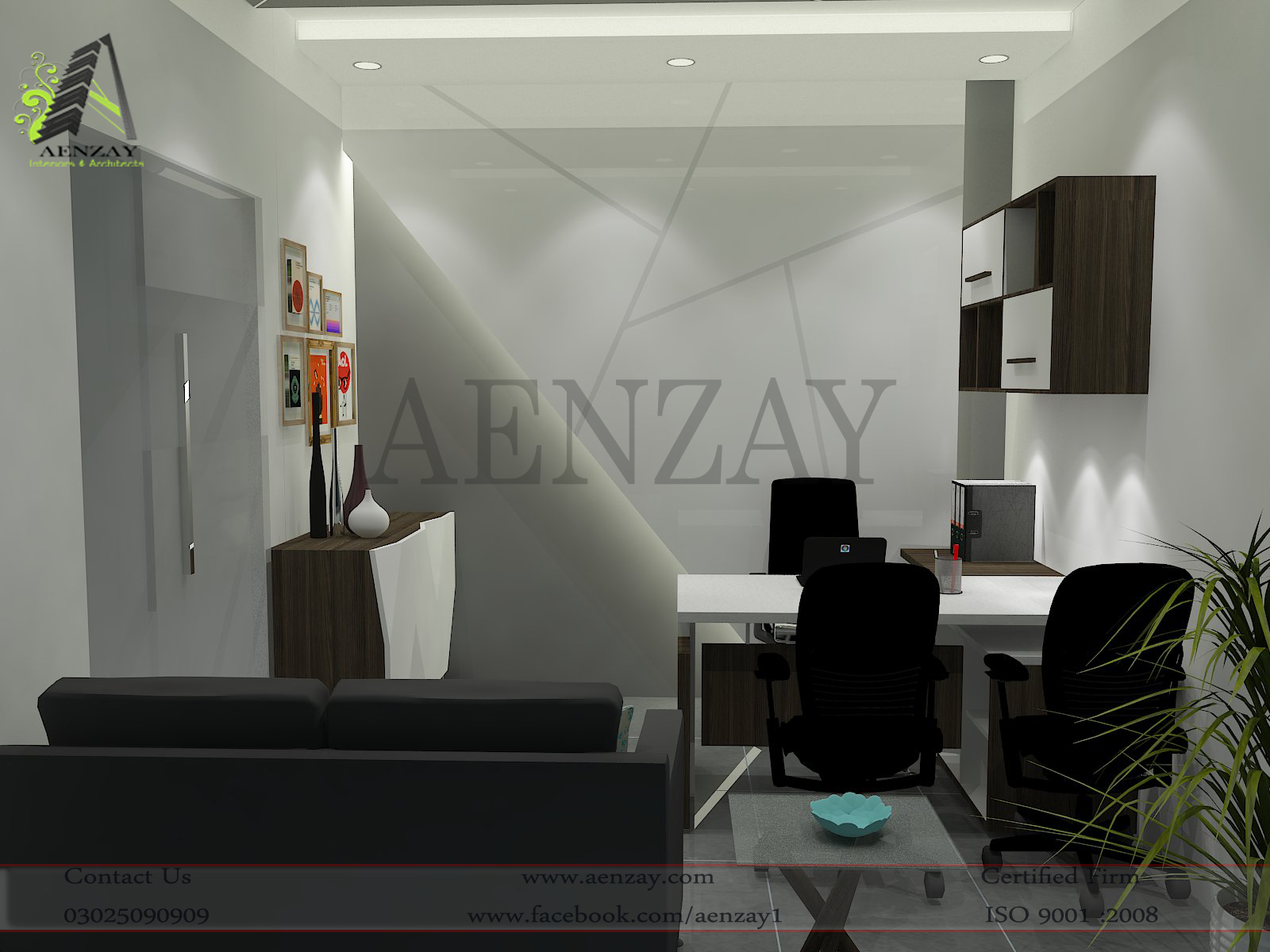 Software House Manager Room Designed by AenZay  Aenzay Interiors  Architecture