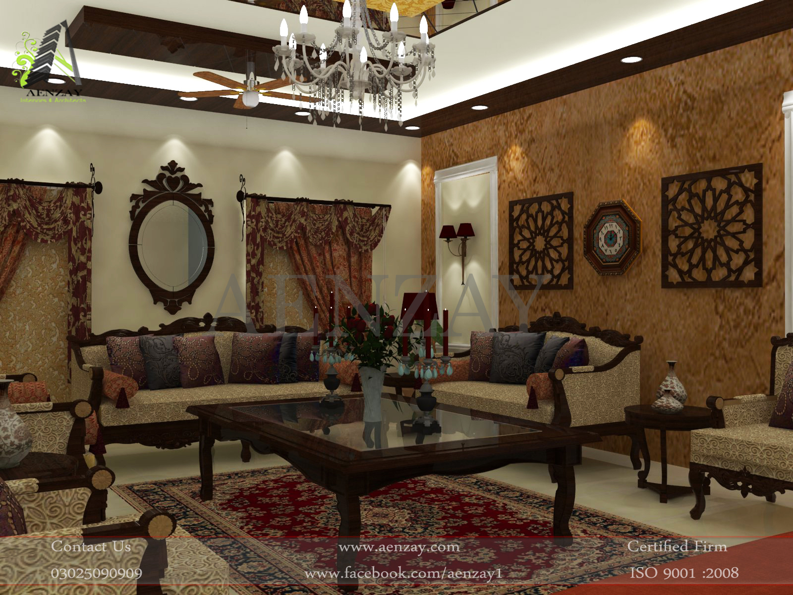 Drawing Room Designed by Aenzay at Multan  Aenzay