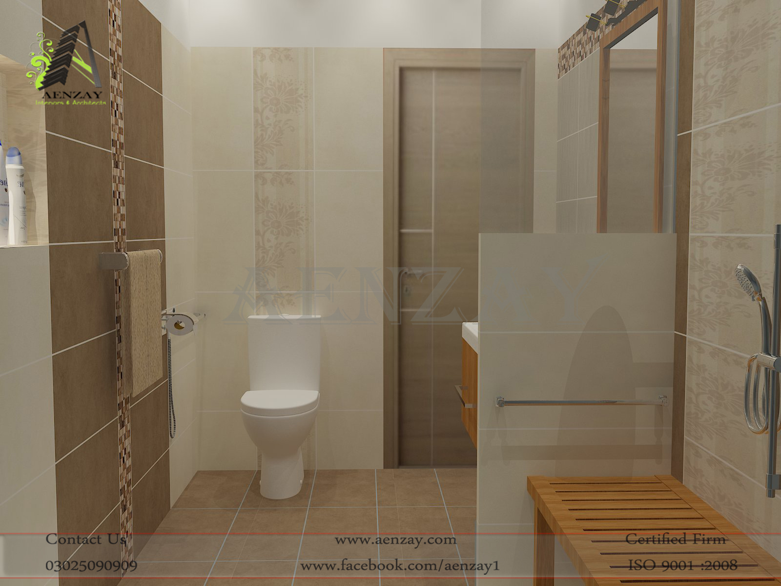 Bathro0m Design by Aenzay I  A  Aenzay Interiors