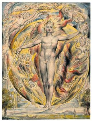 The Sun at His Eastern Gate by William Blake, 1820