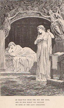 """So halfway from her bed she rose, And on her elbow did recline to look at the Lady Geraldine."""