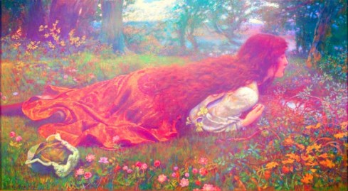 The Princess out of School by Edward Robert Hughes (1901)