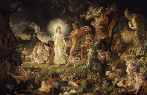 The Quarrel of Oberon and Titania by Sir Joseph Noel Paton