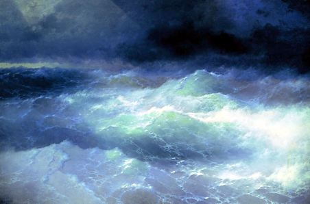 Among the Waves by Aivazovsky Feodosiya (1898)