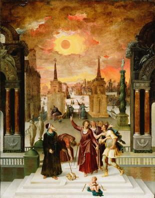 Dionysius the Areopagite Converting the Pagan Philosophers by Antoine-Caron