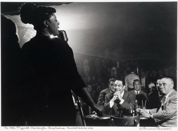 ella-fitzgerald-duke-ellington-benny-goodman-downbeat-club