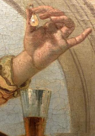 Detail of Cleopatra in Tiepolo's Banquet of Cleopatra.