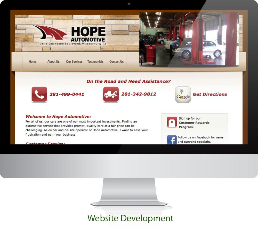 Automotive Website Design Sugar Land Texas 77478