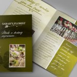 Florist brochure collateral design