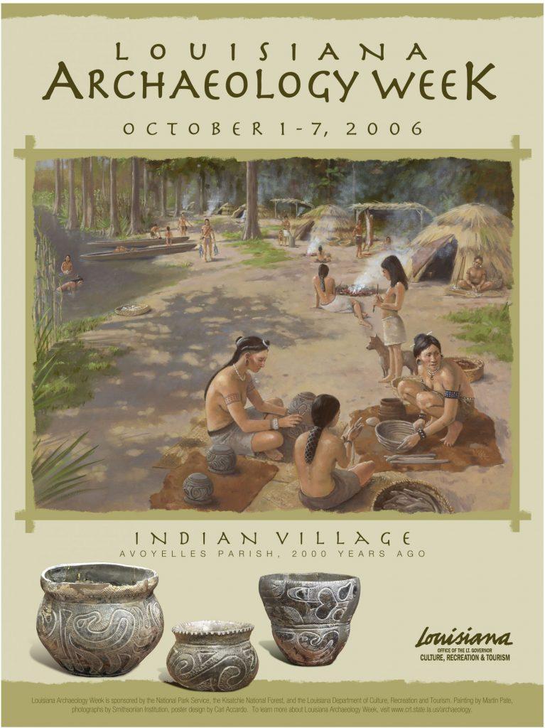 Louisiana Archaeology Week Poster Design