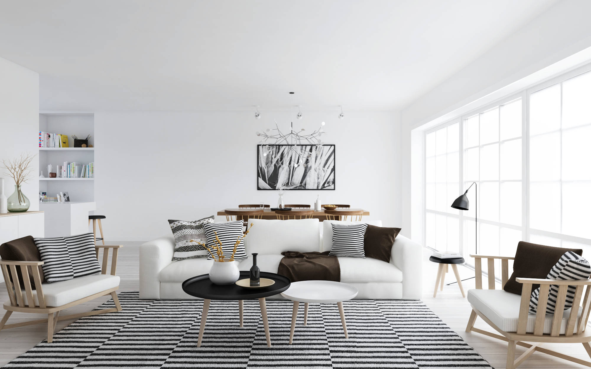 Decor 101: Black, White and Gold Living Room {with tribal accents ...