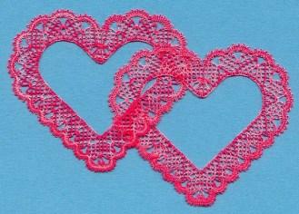 Torchon Hearts Bobbin Lace