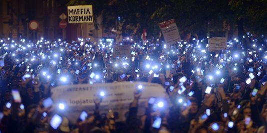 Demonstration against internet tax