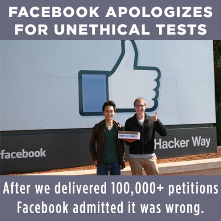 """Facebook Apologizes for unethical practices."